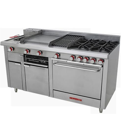Cookinox equipos y cocinas industriales for Material para cocinas industriales