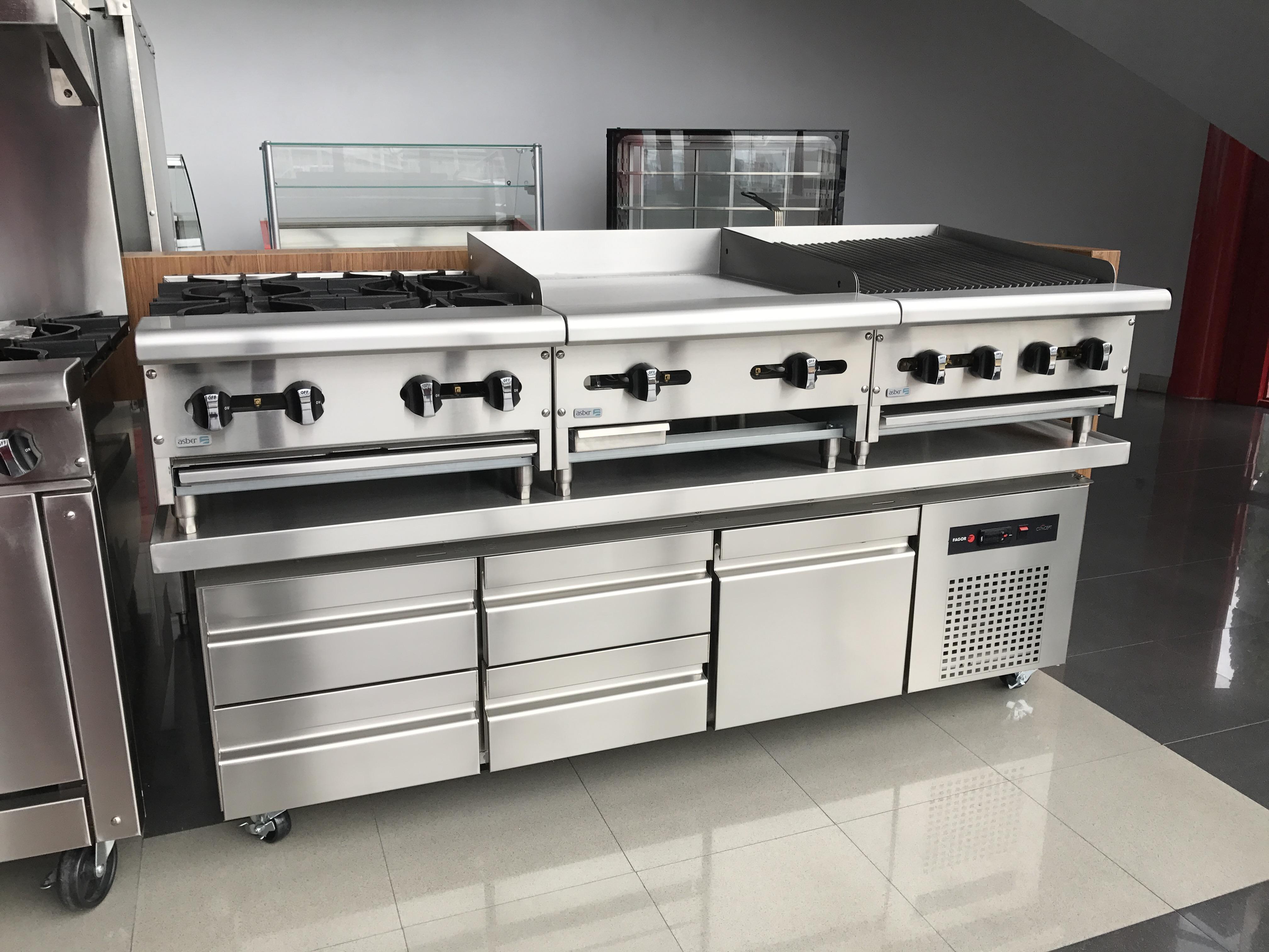 Cocinas industriales equipamiento y muebles de acero for Todo para cocinas industriales